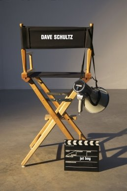 Director Dave Schultz chair and megaphone