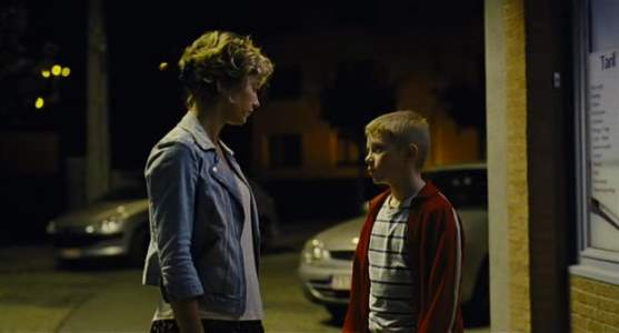 Thomas Doret and Cecile De France in The Kid with the Bike ( 2011 )