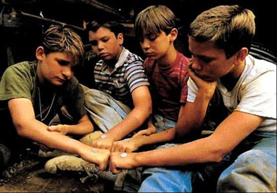 River Phoenix, Wil Wheaton, Cory Feldmen and Jerry O'Connell