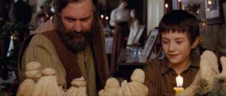 Luke Ward-Wilkinson and Tom Berenger as Thomas and Jonathan Toomey in The Christmas Miracle of Jonathan Toomey