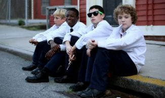 Funeral Kings Cast : David (Jordan Puzzo), Felix (Charles Kwame Odei), Alex (Dylan Hartigan) and Charlie (Alex Maizus)