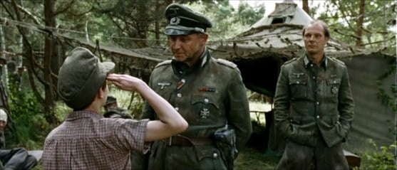 Peter reporting to the German commander