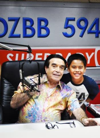 Sam and Mr. Moreno at his Radio Station