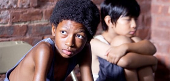 Skylan Brooks and Ethan Dizon in The Inevitable Defeat of Mister & Pete