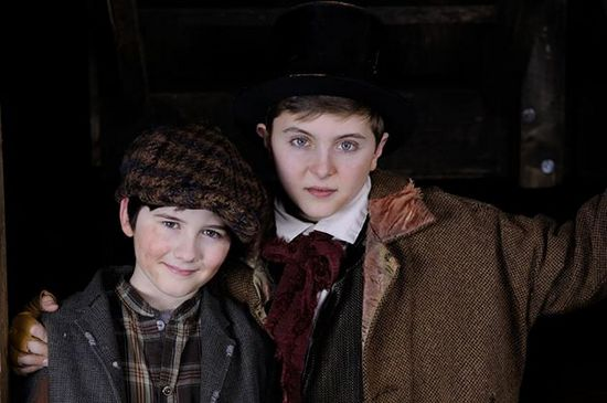 Oliver (Phineas Peters) & The Artful Dodger (Noah Parets)