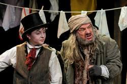 The Artful Dodger (Noah Parets) and Fagin (Steven Berenson)