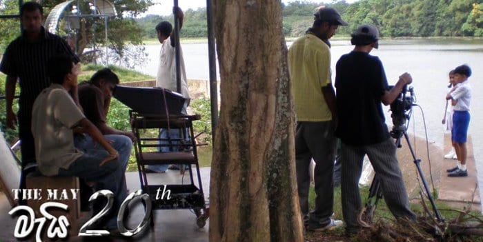 Reshan Fernando on the set of May 20th