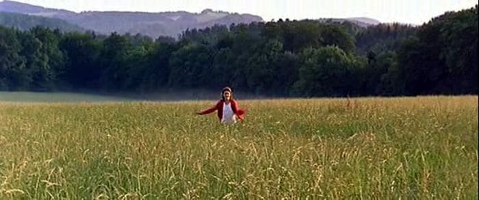 Swing (Lou Rech) running through the French countryside